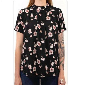Urban Outfitters Sienna Sky Floral Loose Fit Top